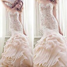 Maggie Sottero Wedding Gown Bridal Dresses Soft Blush 12 Aurora Sexy Beaded