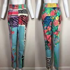 Rare Vtg Gianni Versace 90s Floral Pants Size 38