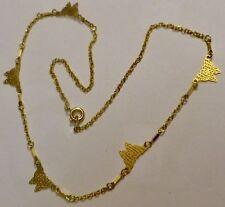 collier vintage couleur or déco papillon dentelle* 4547