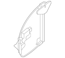 Genuine Nissan Rear Sliding Back Window Regulator 79701-9FG0A