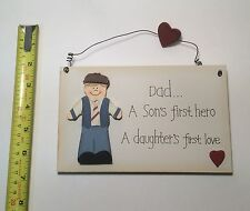 Dad A Sons 1st Hero Wall Plaque, Christmas Gift Ideas for Dad, Farther & him
