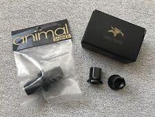 New Animal 14 mm Axle Nuts & plastique bar ends BMX Noir abikeco ANML roue