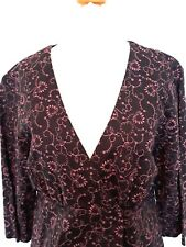 Women's White Stuff top Size 14 Purple Pink 3/4 sleeve