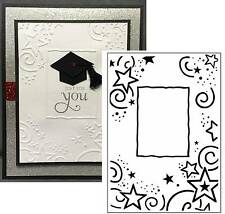 Stars Embossing folder STAR BORDER Crafts Too 1215-64 Graduation,All Occasion A2