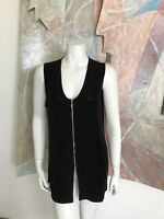 VINTAGE Impressions California 1990s Black Stretch Womens Blouse Top BT Small