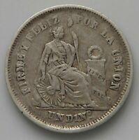 PERU DINERO  1864  #ko 271