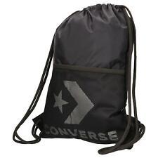 Converse NEW Men's Cinch Bag - Black / Metallic Silver BNWT