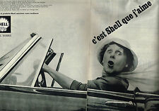 PUBLICITE ADVERTISING 104  1961   SHELL   I.C.A  carburants  ( 2 pages)