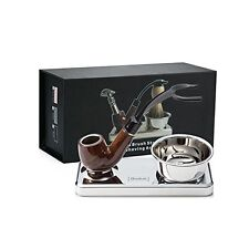 Deluxe Shaving Kit Badger Shaving Brush & Razor Stand Holder (Rose Gold)