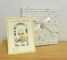 ALBUM FOR PHOTOS TO 20 SHEETS 22 X 22 CM. PRIMA COMMUNION PAPER NATURAL NEW