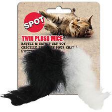 Spot Twin Plush Mice With Catnip & Rattle Cat toy