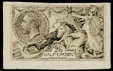 More details for sg400, 2s 6d sepia-brown, unused. cat £225. waterlow. rough plate proof