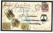 GB Cover IR OFFICIAL Glos SWITZERLAND Postage Dues 1891 Underpaid RARE MC54
