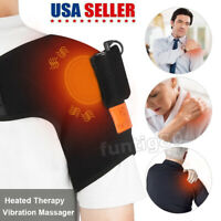 Shoulder Arthritis Heating Therapy Vibration Massager Support Brace Pain Relief