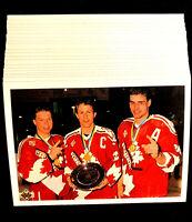 1990-91 Upper Deck Canada's Captains ~ 20 CARD LOT ~ DRAPER, RICE & LINDROS