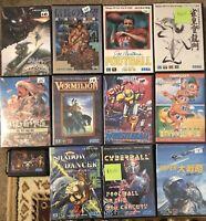 Lot Of 12 Sega Japan Mega Drive Games 10 With Manual+ Shadow Dancer Golden Axe 2