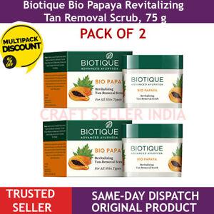 2 X 75 gm Biotique Bio Papaya Revitalizing Tan Removal Scrub