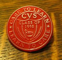 CVS Class Of 1998 Lapel Pin - Care To Learn Learn To Care School Education Badge