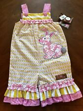 Millie Jay romper girls 3T  Bunny Easter Fun NWT!