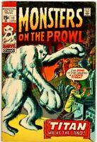 Monsters on the Prowl  #11 Marvel Comic KEY  Hulk Prototype!  1971