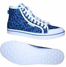 Adidas Honey Mid W señora Hi sneakers canvas Leopard azul negro blanco talla 36