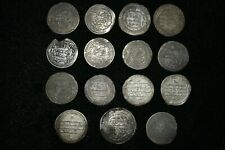 Rare 15 Pcs Authentic Ancient Islamic Silver Umayyad Coins Circa 661-750Ce