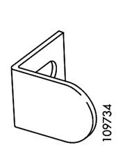 IKEA Bracket Door Stopper Steel  Black PART #109734