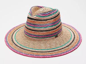 Brixton Joanna Striped Straw Hat - size S - NWT - $49