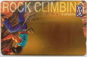 Malaysia Used Uniphone Phone Card : X-SPORTS - Rock Climbing
