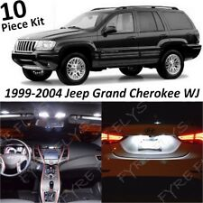 10x White Interior LED Lights Package for 1999-2004 Jeep Grand Cherokee WJ +Tool