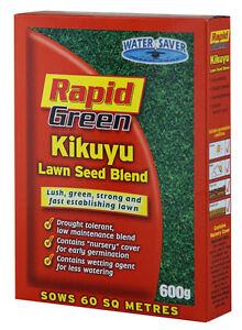 Rapid Green Kikuyu Lawn / Grass Seed Blend 600gr