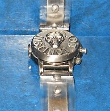 Instinct Boy SKULL Cover Face Quartz Wrist Watch PERINI  Japan