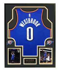 Russell Westbrook signed jersey Oklahoma City Thunder Nike framed w/coa auto