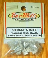 Bar Mills #205 (Ho Scale) Various Street Stuff
