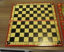 1880's JTR Paris French Jeux Victorian 28 Domino Game With 100 Square Board