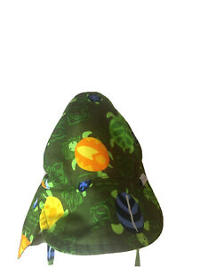iPlay Infant & Toddler Turtles Flap Sun Protection Hat 6-18 Months Beach Baby