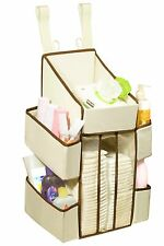 Baby Diaper Organizer Caddy - 5 Pockets - 44 Diaper Storage Capacity