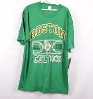 NOS Vintage 80s Champion Boston Celtics NBA Basketball Spell Out T-Shirt Green