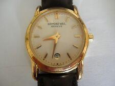 Vintage Raymond Weil Womens Watch 5371 Swiss Made Gold Face RW Roman Numerals