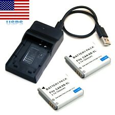Battery / USB Charger For Canon PowerShot SX170 IS SX500 IS SX240 HS SX260 HS