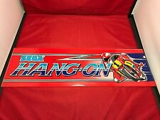 Original Vintage Sega Hang-On Marquee Header Arcade Plexiglass
