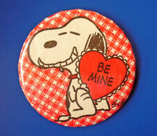Button Pin Valentines Vintage Snoopy Heart Be Mine Beagle Holiday Peanuts