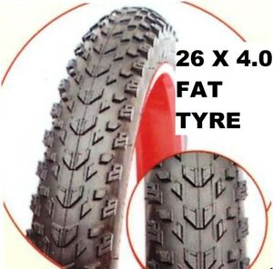 26 x 4.0 Inch 100-559 Fat Tyre for Mountain MTB Mud Dirt Cruiser Bike Bicycle