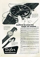 D- Publicité Advertising 1959 La Montre Difor