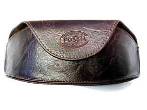 ᑕ❶ᑐ FOSSIL® Vintage Etui Brillenetui Kunstleder Braun Sonnenbrille Tasche NEU