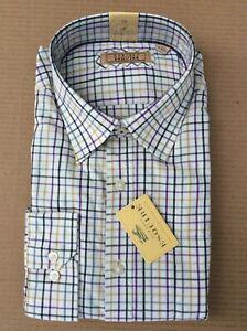 Gurteen Mens Tattersall GRAPE check shirt,100%cotton few sizes £21.95 RRP £45.00