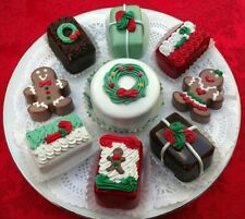 9 PC. CHRISTMAS PASTRY SET IS FESTIVE