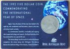 1992 $5 INTERNATIONAL YEAR OF SPACE COMMEMORATIVE COIN