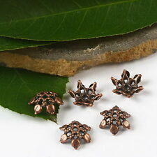 60pcs copper-tone flower beads cap  h2365