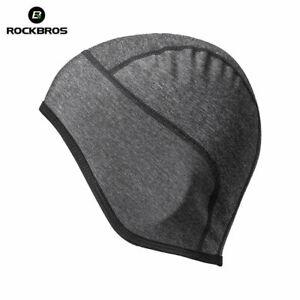 ROCKBROS Bike Under Helmet Winter Thermal Windproof Hat Men Outdoor Sports Cap
